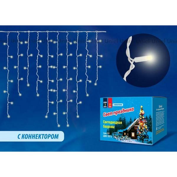 Бахрома световая (3x1 м) ULD-B3010-200/TWK WARMWHITE IP67 Uniel