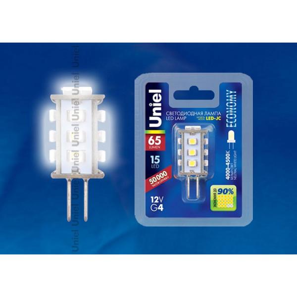Лампа светодиодная Uniel  G4 0,9Вт 4500 KK 04952, 4952 Uniel