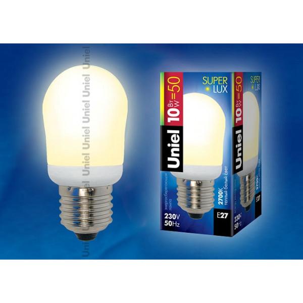 Лампа компактная люминесцентная Uniel  E27 10Вт 2700K 01387 Uniel