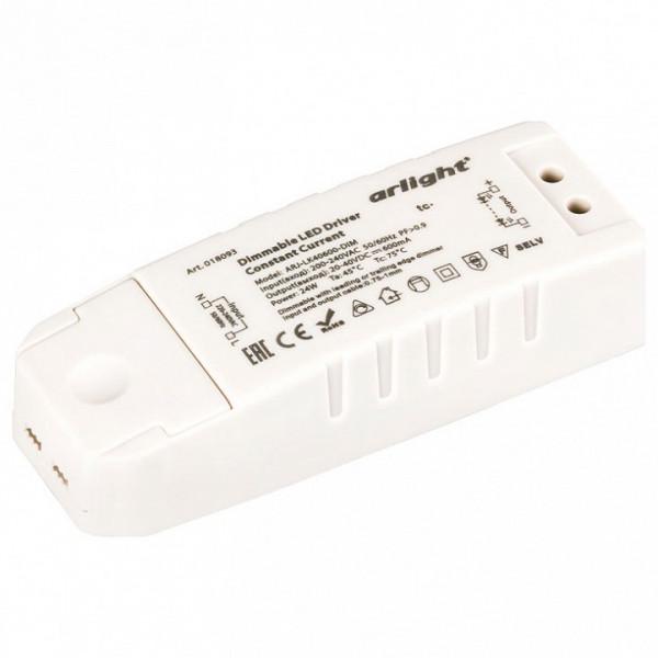 Блок питания Arlight  ARJ-LK40600-DIM (24W, 600mA, PFC, Triac) Arlight