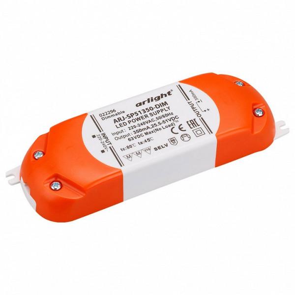 Блок питания Arlight  ARJ-SP51350-DIM (18W, 350mA, PFC, Triac) Arlight
