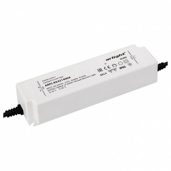 Блок питания Arlight  ARPJ-KE421400A (60W, 1400mA, PFC) Arlight