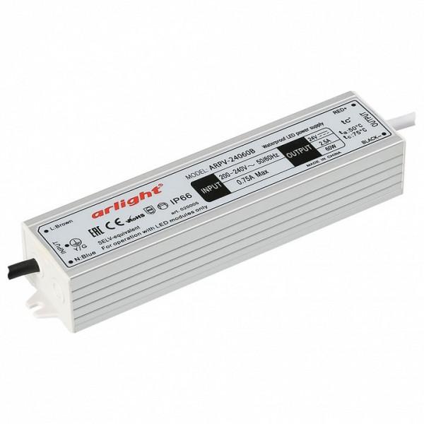 Блок питания Arlight  ARPV-24060-B (24V, 2.5A, 60W) Arlight