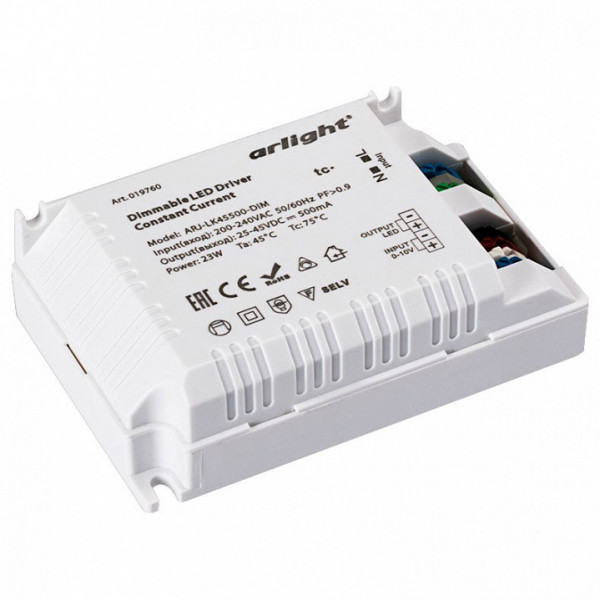 Блок питания Arlight  ARJ-LK45500-DIM (23W, 500mA, 0-10V, PFC) Arlight