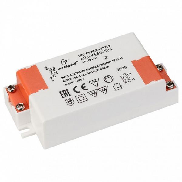 Блок питания Arlight  ARJ-KE60350A (21W, 350mA, PFC) Arlight