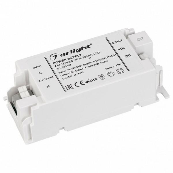 Блок питания Arlight  ARJ-LE60500 (30W, 500mA, PFC) Arlight