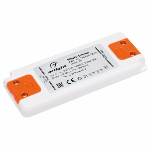 Блок питания Arlight  ARV-HL12020A-Slim (12V, 1.67A, 20W) Arlight