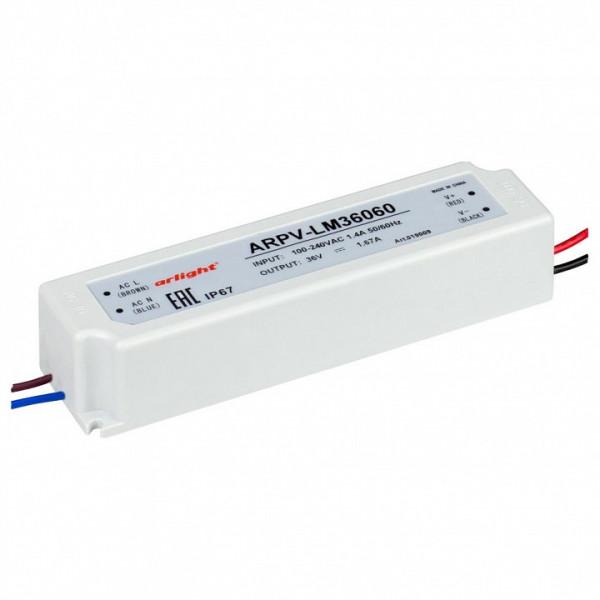 Блок питания Arlight  ARPV-LV36060-A (36V, 1.7A, 60W) Arlight