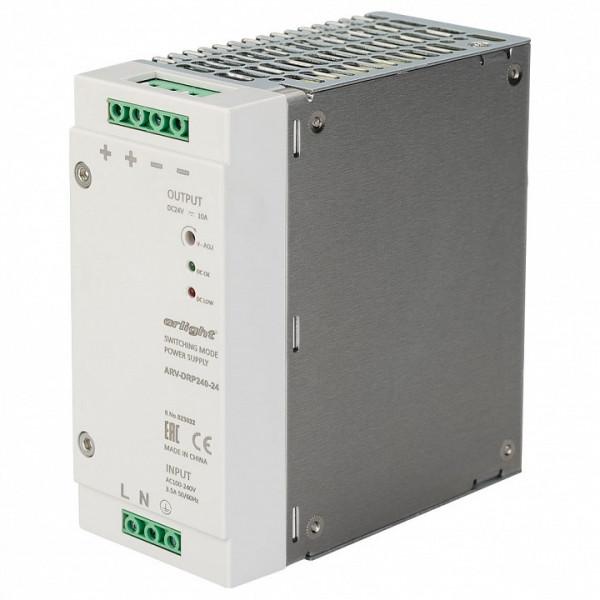 Блок питания Arlight  ARV-DRP240-24 (24V, 10A, 240W, PFC) Arlight