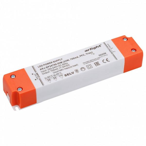 Блок питания Arlight  ARJ-SP34700-DIM (24W, 700mA, PFC, Triac) Arlight
