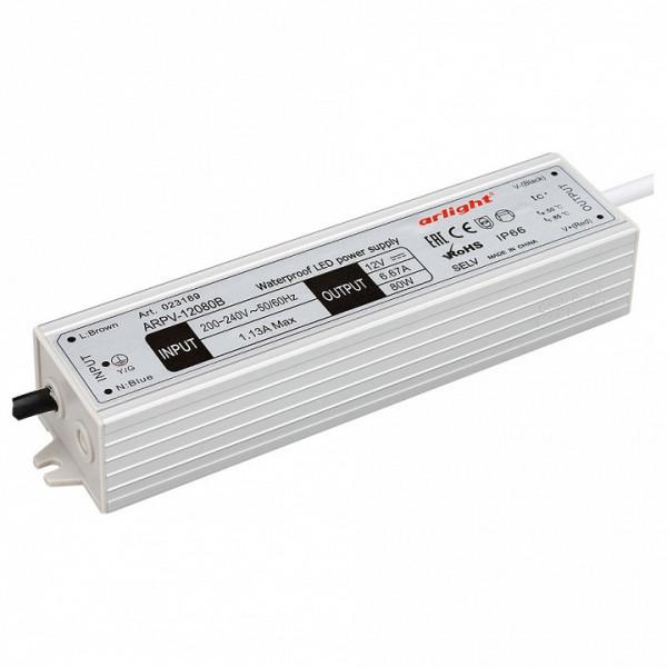 Блок питания Arlight  ARPV-12080-B (12V, 6.7A, 80W) Arlight